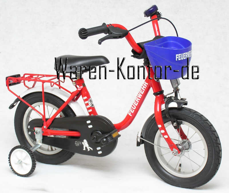 kinderfahrrad 14 zoll feuerwehr ab 3 jahren. Black Bedroom Furniture Sets. Home Design Ideas