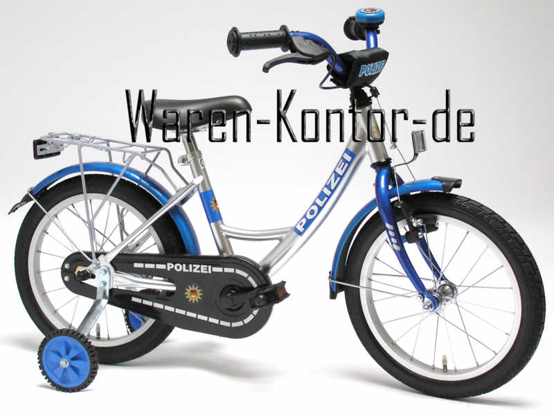 kinderfahrrad 18 zoll polizei ab 5 jahren ebay. Black Bedroom Furniture Sets. Home Design Ideas