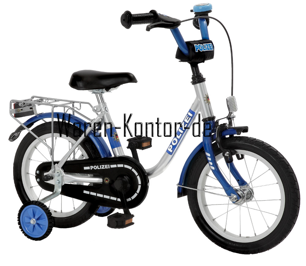 kinderfahrrad 14 zoll kinderfahrrad 14 zoll polizei ab 3. Black Bedroom Furniture Sets. Home Design Ideas